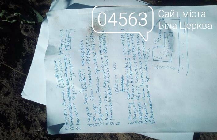 Папери, які були при нападникові.