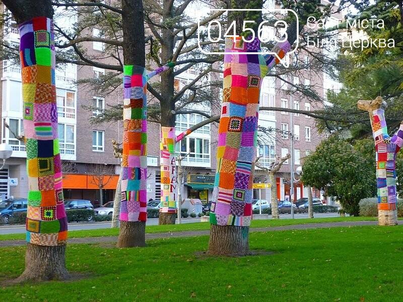 Білоцерківські активісти прикрасять дерева в'язаними візерунками, фото-1