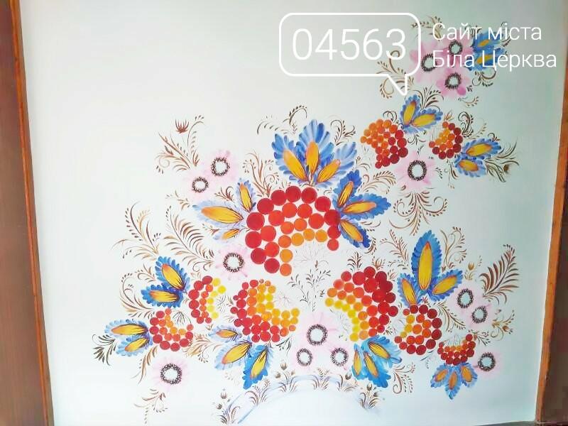 Білоцерківський садочок №32 прикрасили яскравим Петриківським розписом, фото-3