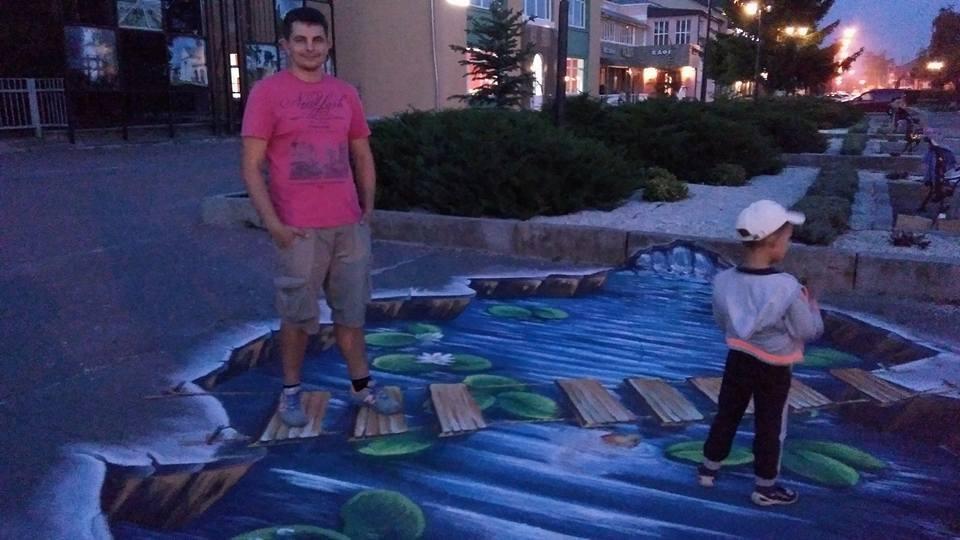 ілій Церкві на площі Шевченко з'явився 3D-малюнок