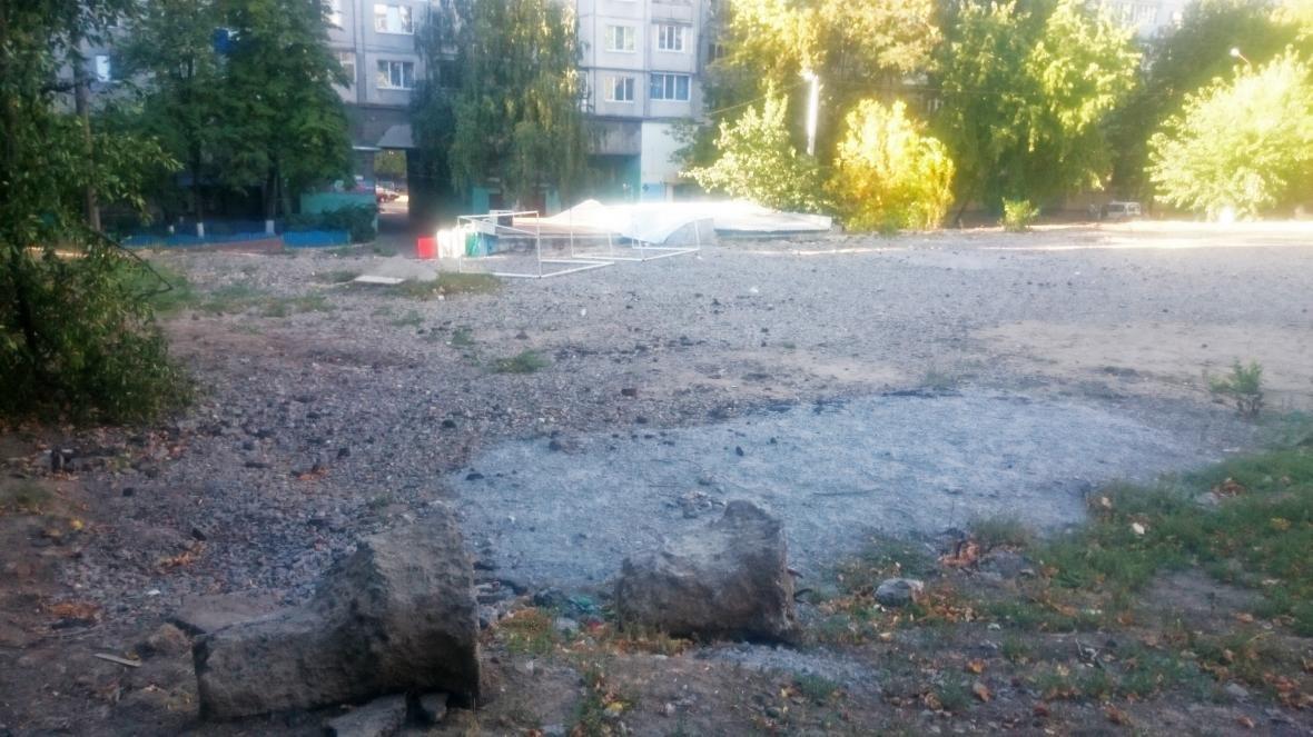 Незавершений ремонт спортивного майданчика на масиві Леваневського