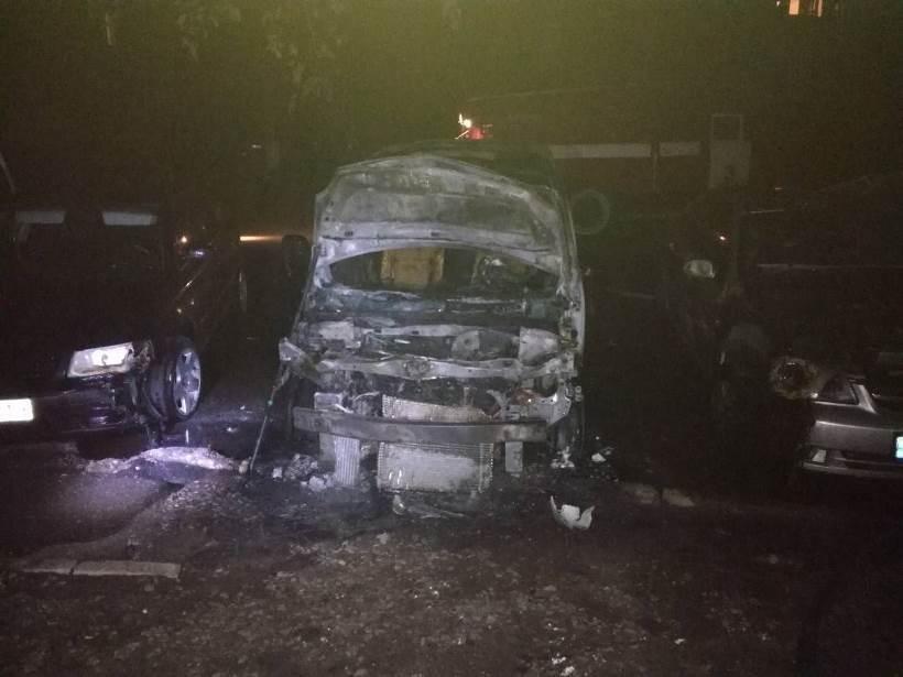 За останню добу в Білій Церкві згоріли чотири автомобілі