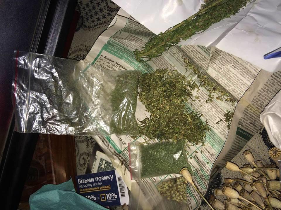 В оселі 34-річного білоцерківця поліцейські знайшли велику кількість наркотиків