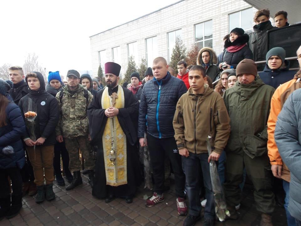 Пам'ять житиме вічно: у Білій Церкві відкрили меморіальну дошку загиблому в АТО Максиму Сломчинському