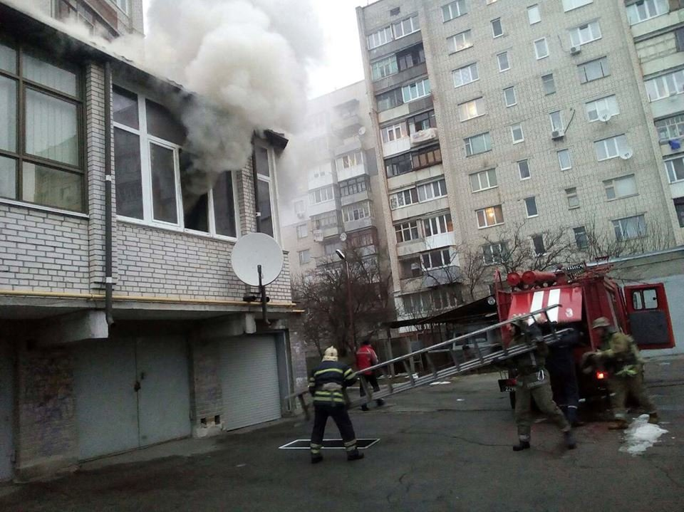 У Білій Церкві по вулиці Партизанська горіла двоповерхова квартира , фото-1