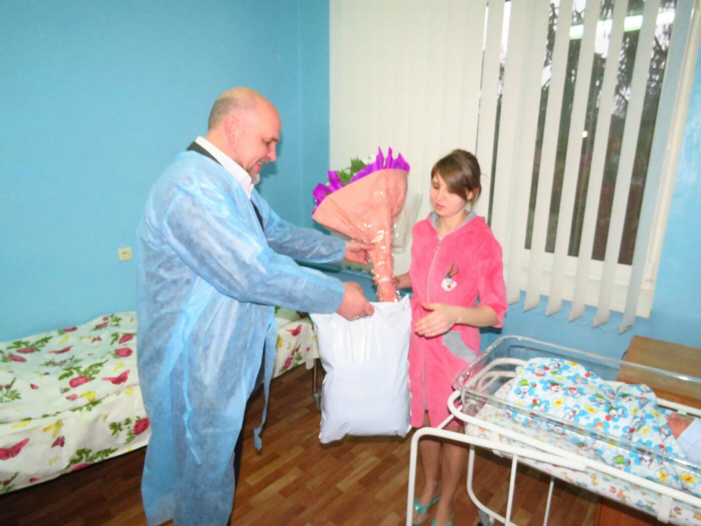 У Білій Церкві привітали малюків, що народилися в перші дні нового року