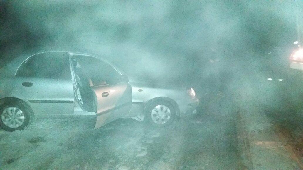 На Білоцерківщині через негоду автомобіль з'їхав у кювет