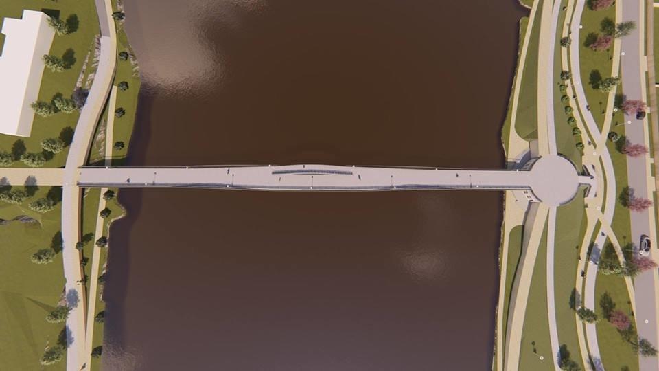 У Білій Церкві представили проект нового мосту, який з'єднає район Заріччя та ДНС