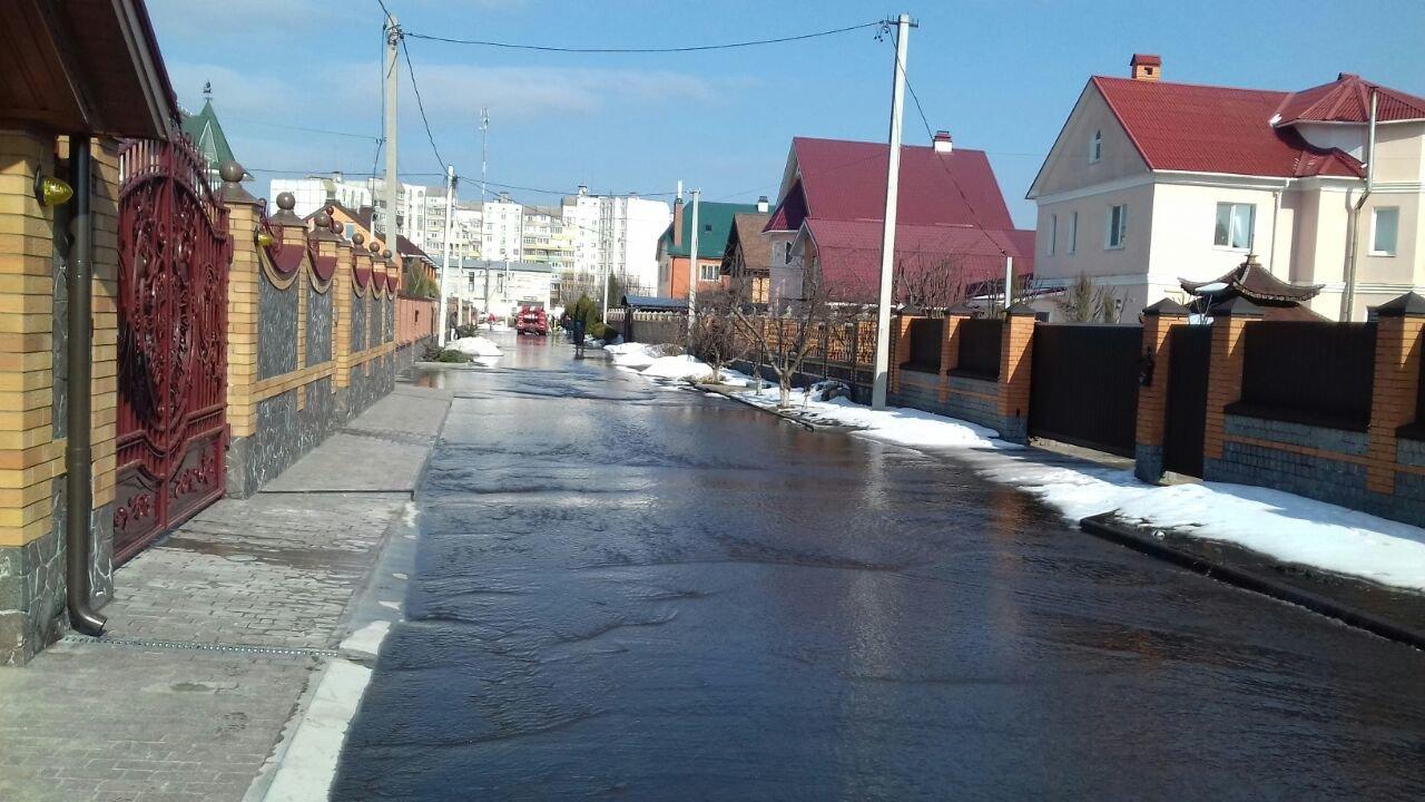 У Білій Церкві затопило бульвар та житлові двори