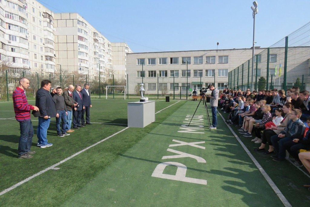 У Першій гімназії було проведено жеребкування серед збірних команд-учасників загальноміського турніру з футболу RMCUPVI ім. Андрія Гусіна