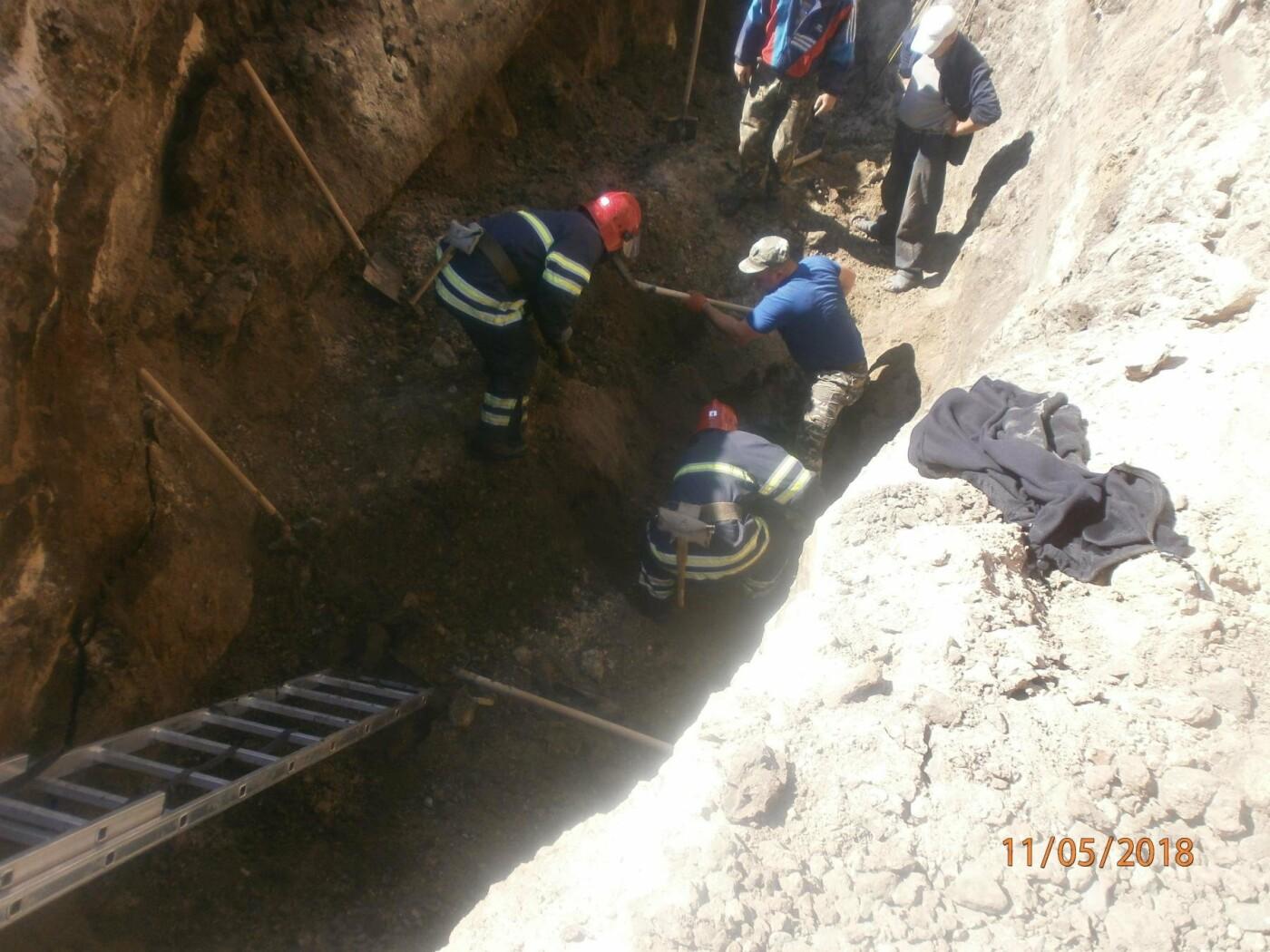 У Білій Церкві на будівельному майданчику двоє чоловіків провалилися під землю, фото-1
