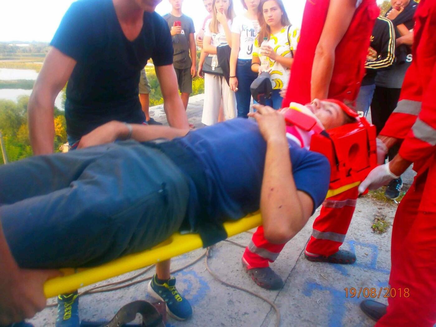 У Білій Церкві хлопець впав у п'ятиметрову яму, фото-1