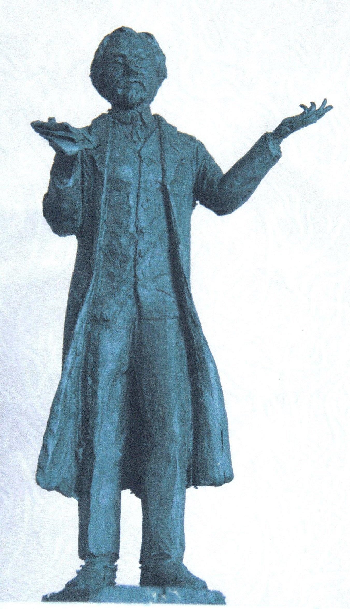 Скульптура з бронзи  українському письменнику Шолом-Алейхему