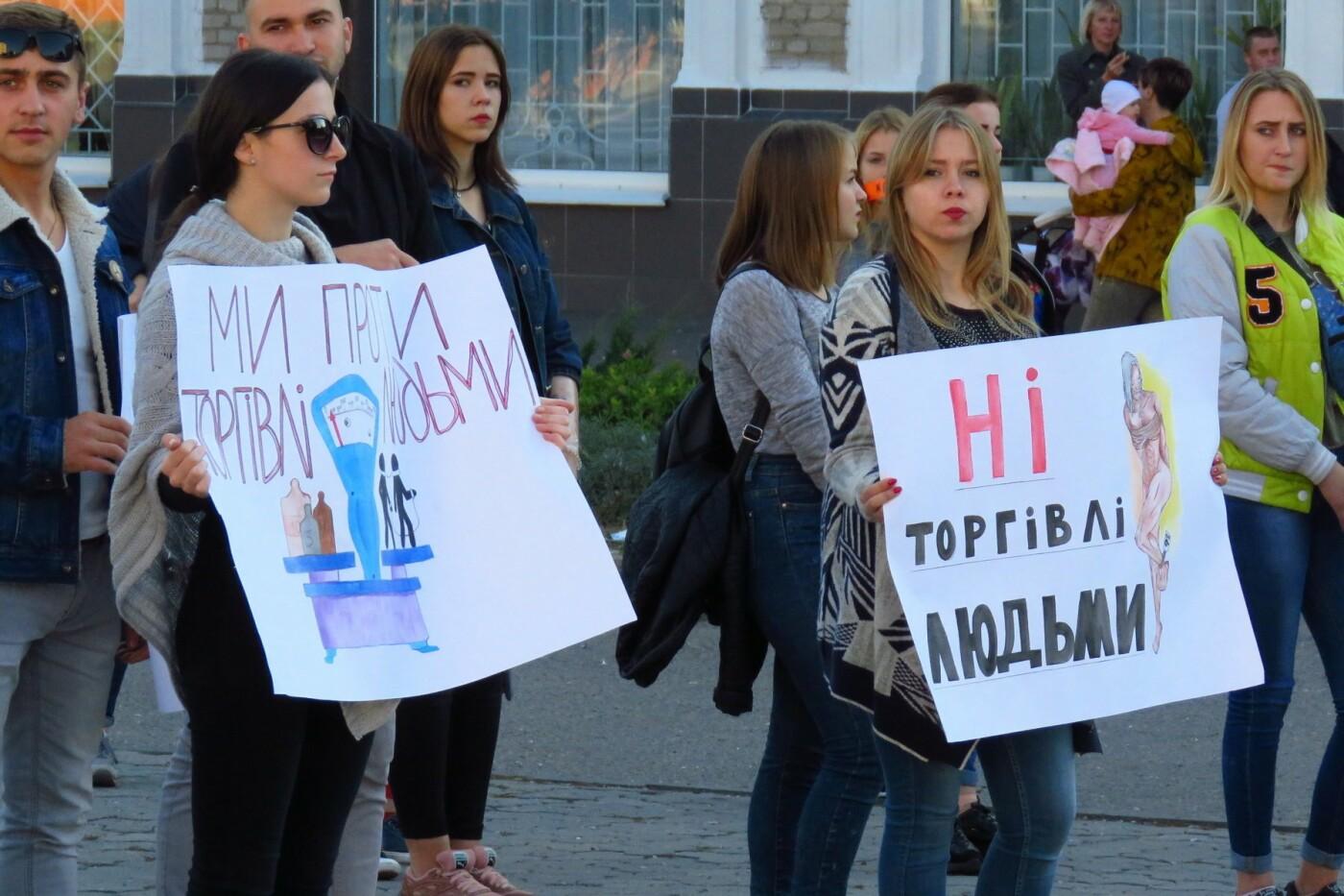 Студенти Білої Церкви вийшли на марш проти торгівлі людьми , фото-4
