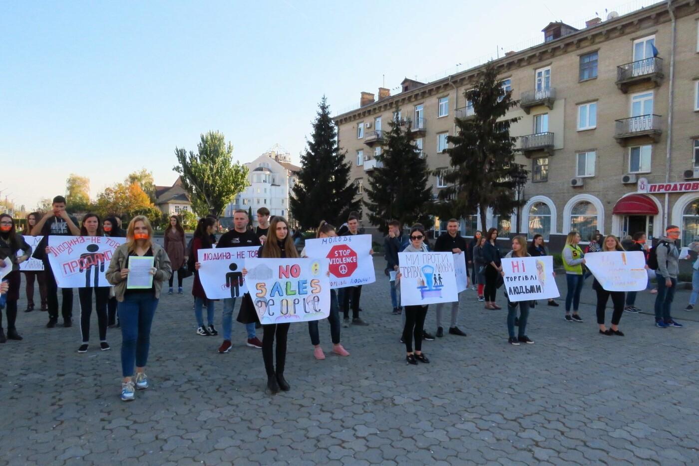Студенти Білої Церкви вийшли на марш проти торгівлі людьми , фото-3