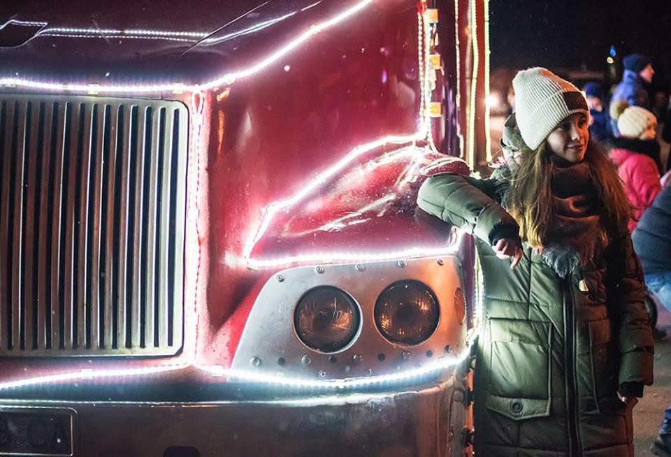 """До Білої Церкви приїжджала новорічна вантажівка """"Coca-Cola"""" (ФОТОЗВІТ), фото-5"""
