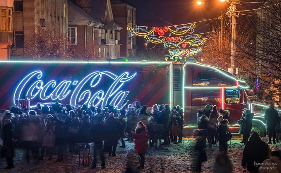 """До Білої Церкви приїжджала новорічна вантажівка """"Coca-Cola"""" (ФОТОЗВІТ), фото-1"""