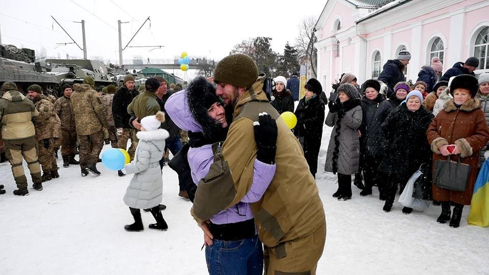 У Білій Церкві зустрічають військовослужбовців 72 ОМБр ім. Чорних Запорожців, фото-2
