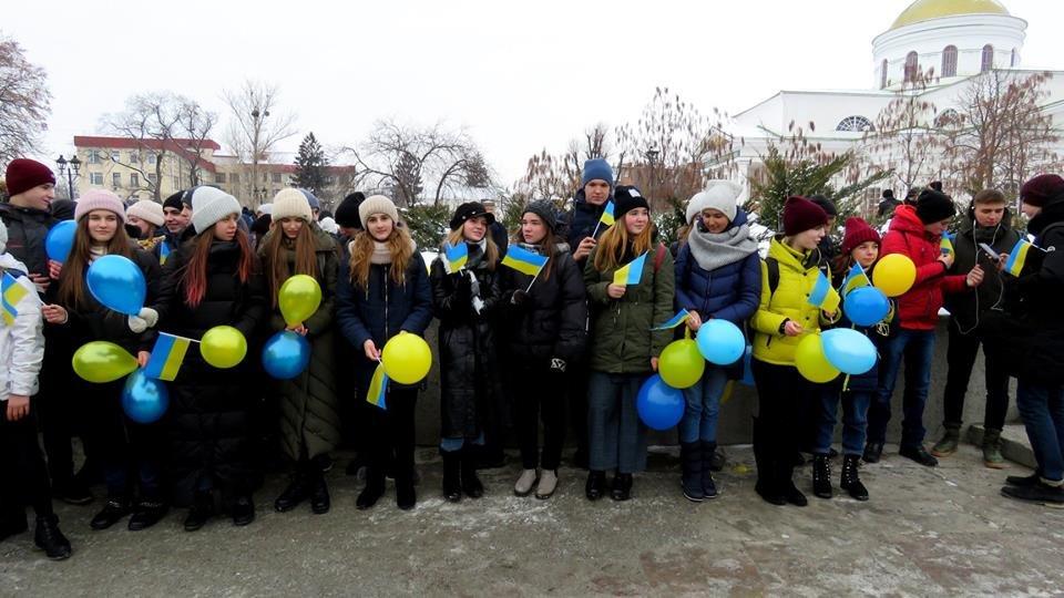 Живий ланцюг, прапори і карта України: як у Білій Церкві відзначали День Соборності , фото-3