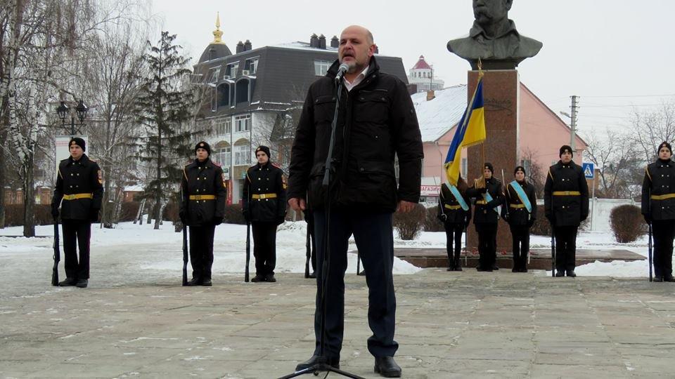 Живий ланцюг, прапори і карта України: як у Білій Церкві відзначали День Соборності , фото-1