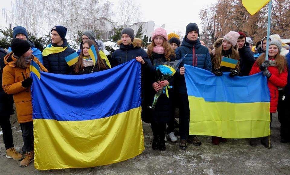 Живий ланцюг, прапори і карта України: як у Білій Церкві відзначали День Соборності , фото-4