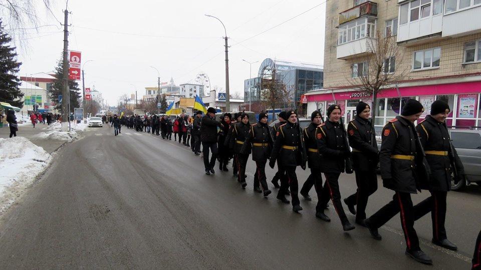 Живий ланцюг, прапори і карта України: як у Білій Церкві відзначали День Соборності , фото-11