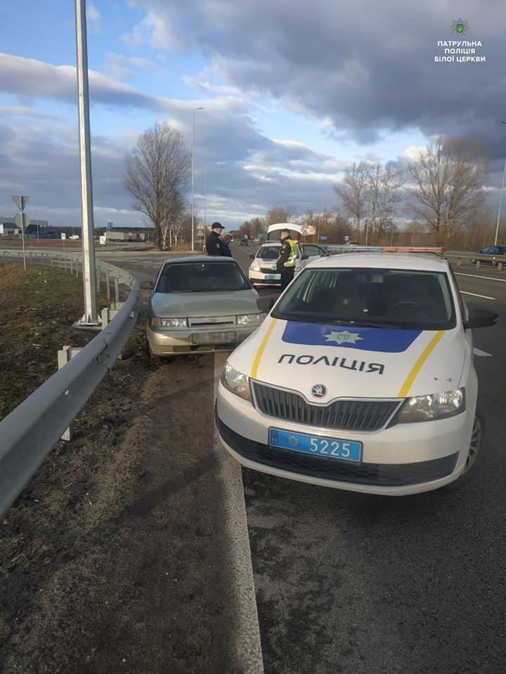 На Білоцерківщині затримали водія, який в стані алкогольного сп'яніння став причиною двох ДТП , фото-1