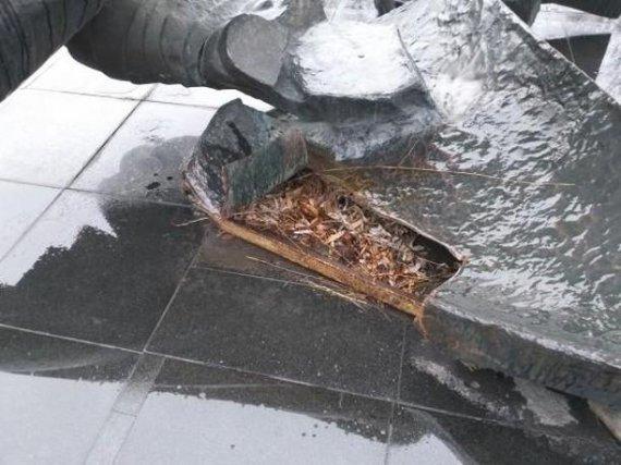 У Білій Церкві вандали викрали частину пам'ятника в парку Слави , фото-1