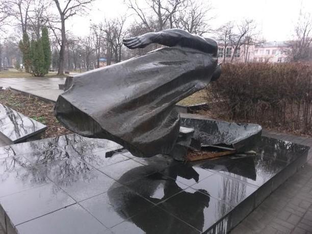 У Білій Церкві вандали викрали частину пам'ятника в парку Слави , фото-2