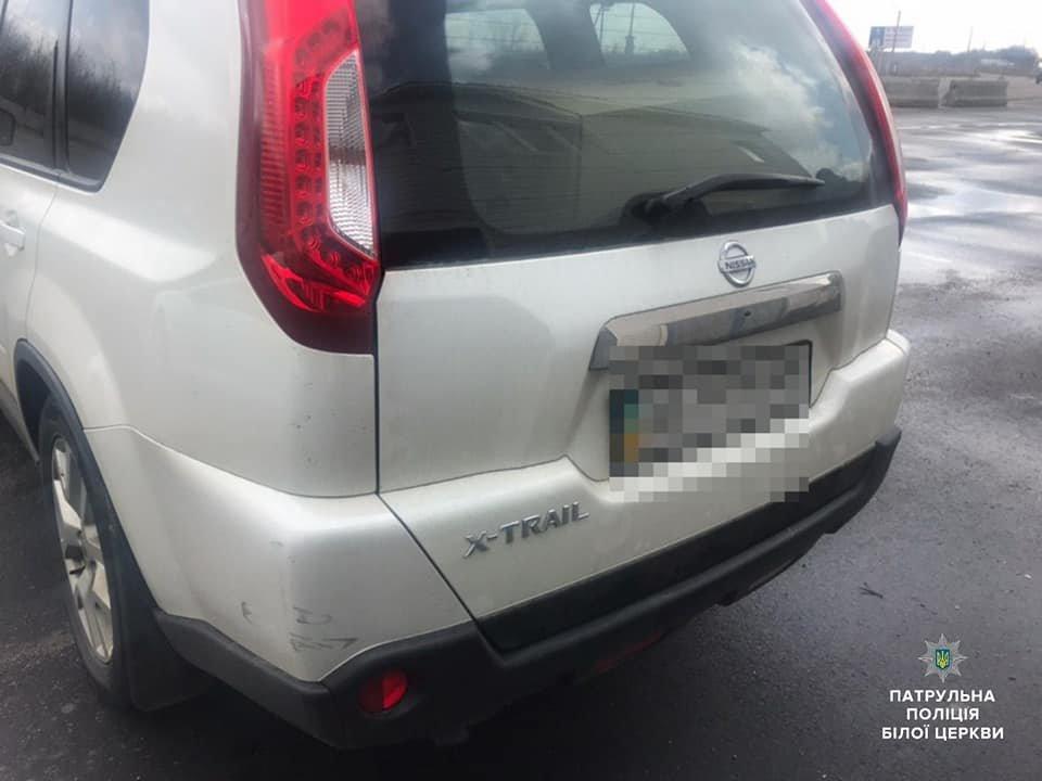 Білоцерківські патрульні затримали водія авто, який втік з місця ДТП, фото-2