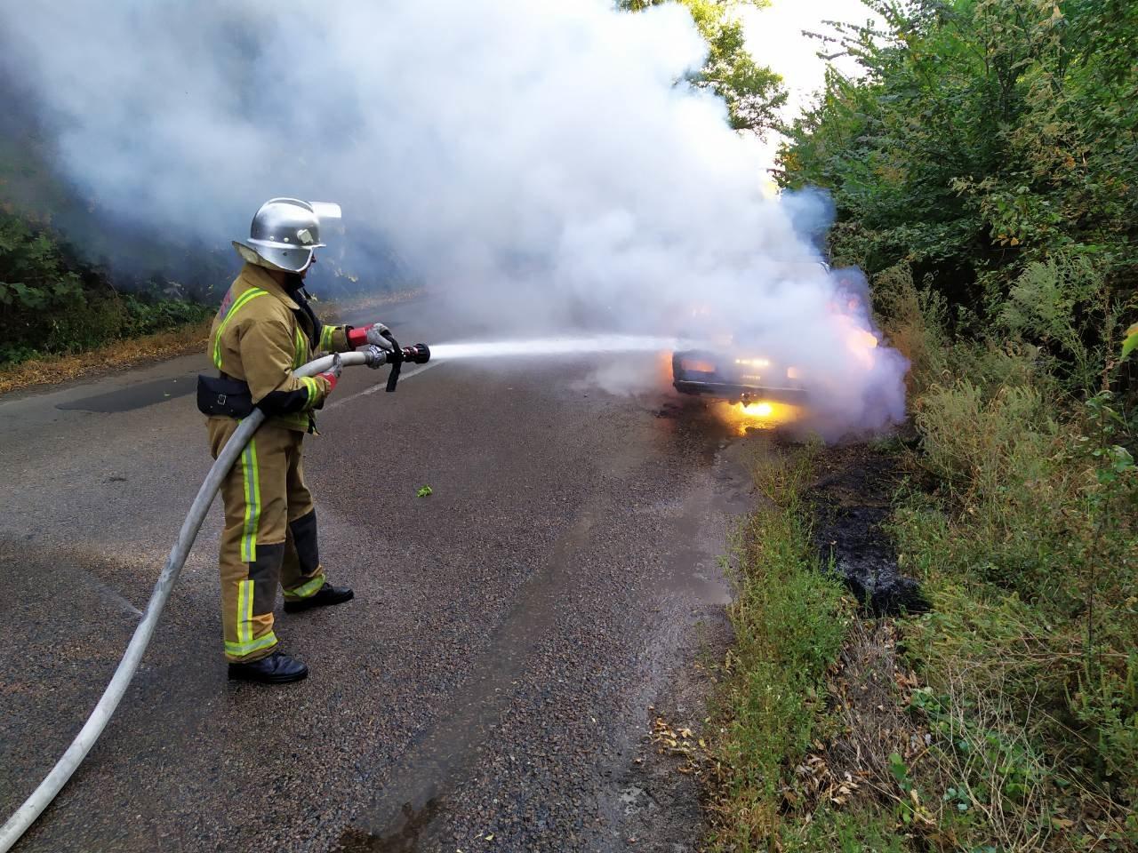 На трасі неподалік Білої Церкви згорів автомобіль , фото-1