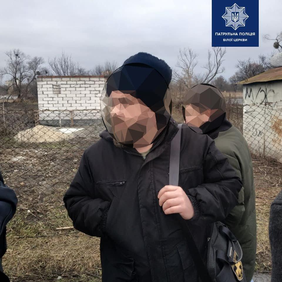 Білоцерківські патрульні затримали чоловіка який погрожував зброєю, фото-3