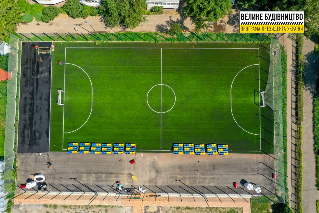 Реконструкція стадіону школи-інтернату у Білій Церкві завершується , фото-1